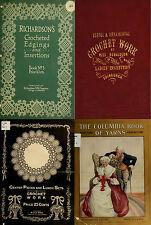 135 RARE OLD BOOKS ON NEEDLEWORK SEWING CROCHETING PATTERNS DESIGN KIT ON DVD