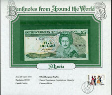 Eastern Caribbean $5 Dollars 1985-88 St. Lucia - Banknotes from Around the World