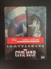 CAPTAIN AMERICA 2: CIVIL WAR BLURAY 3D STEELBOOK FNAC NEUF SOUS BLISTER MARVEL