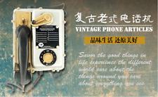 Retro iron telephone model decoration American bar cafe restaurant Wall hanging