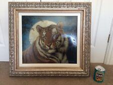 Joel Kirk ORIGINAL Tiger Picture Portrait Large Oil Painting on Canvas Excellent