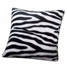 AWESOME Black and White Zebra Fake Fur Cushion Cover