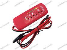 12v vehículo coche Verificación De Batería Y Alternador de diagnóstico Medidor Probador De Circuitos Rojo