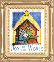 Cross Stitch Kit Design Works Christmas Nativity Picture w/Frame & Mat #DW527