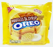 1 Nabisco Oreo WAFFLES & SYRUP Golden Sandwich Cookies LIMITED EDITION 10.7 oz