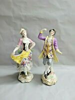 Antique French Marx Eugene Clauss Porcelain Pair of 2 Figurines 13'' T