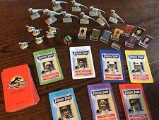 Vintage Jurassic Park Milton Bradley Game Pieces Dinosaurs Cards