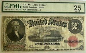 US 2$ 1917 Legal Tender, FR# 60 PMG 25 (Very Fine)