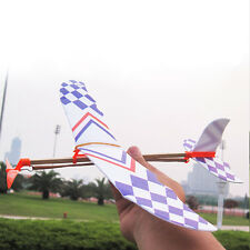 DIY Rubber Band Elastic Airplane Model Powered Glider Flying Plane Kit Kid Toy