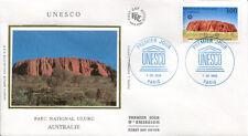 FRANCE FDC - S114 1 UNESCO - PARIS 1 Juin 1996 - LUXE sur soie AUSTRALIE