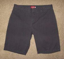 Dickies Girl Blue Gray Khaki Trouser Long Walking Shorts Size 7