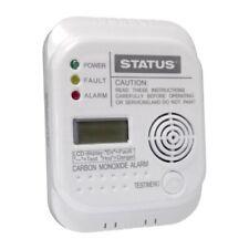 Carbon Monoxide Digital Battery Alarm LCD White Batteries included LIFESAVER