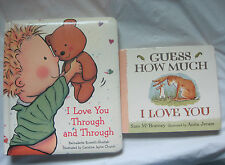 Lot of 2~I Love You Childrens Board Books~Guess How Much Through ~LBDEN