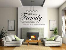 árbol de familia Juntos Amor pared Vinilo Adhesivo frase Hogar