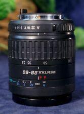 EUC PENTAX  SMC FA 28-80mm F3.5-5.6 Autofocus Zoom Lens