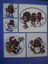 California Raisins Christmas Cross Stitch Book #1- With 10 Designs