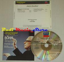 CD ANTON BRUCKNER Sinfonia n.4 WIENER PHILHARMONIKER KARL BOHM lp mc dvd