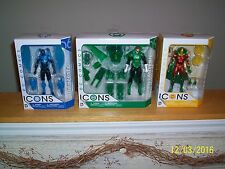 DC Entertainment DC Icons Blue Beetle, Green Lantern, and Mister Miracle