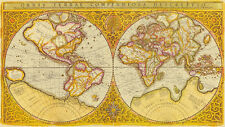 ORBIS TERRAE Globe Terrestre Early World Map in facsimile on loose paper