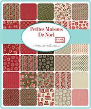 "SQ13 Moda PETITES MAISONS DE NOEL Precut 5"" Charm Pack Fabric Squares 13790PP"