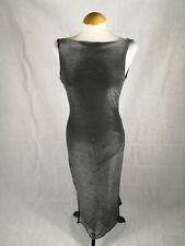 Ladies Dress Size 10 M&S Gunmetal Grey Shimmer Party Evening Wedding Occasion