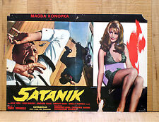 SATANIK fotobusta poster affiche Magda Konopka Fumetto Corno Kriminal 1968 AH8