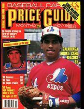 SCD Baseball Card Price Guide November 1988 Andres Galarraga EX No ML jhscd5
