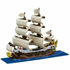 NANOBLOCK HUGE SAILING SHIP MINI BRICKS PUZZLE 2490 PIECES NB-030 BRAND NEW