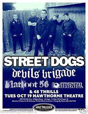 STREET DOGS / DEVILS BRIGADE 2010 PORTLAND CONCERT TOUR POSTER-Boston Punk Music