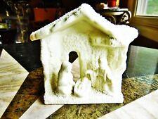 "Christmas Mini Jade Nativity Ceramic All One Piece 3 3/4""L X 4 1/4""H W/Box"