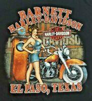 Vintage 2013 Barnett Harley Davidson Black T Shirt El Paso Texas Mens size XL