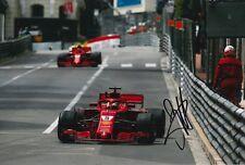 Sebastian Vettel Hand Signed Scuderia Ferrari F1 12x8 Photo 2018 3.