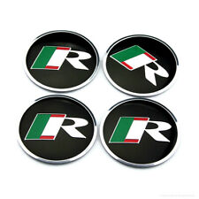 "4x 2.2"" 56mm For Jaguar R Emblem Wheel Center Caps Sticker XJ XJR XJ6 XF X S"
