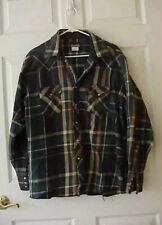 Vtg Wrangler Mens Sz Xxl Long Sleeves Cowboy Pearl Snap Western Shirt Flannel I