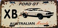 FORD FALCON GT  XB  AUSSIE MUSCLE TIN LICENCE PLATE  BAR- MAN SHED-GARAGE