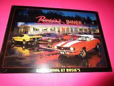 tin metal gas oil dealer garage repair shop advertising rosie diner muscle camar
