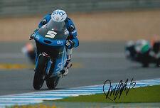 Romano Fenati mano firmato FOTO 12X8 VR46 TEAM KTM MOTO3 2015 2.