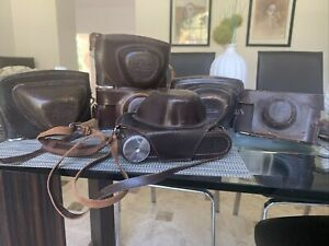Lot of Vintage Leica Camera Cases