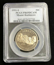1991S Proof Mount Rushmore Half Dollar Graded PR69 DCAM PCGS Commemorative B10c