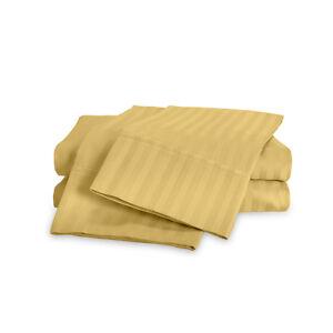 Luxury Soft 100% Egyptian Cotton 600 Thread Count Sateen Stripe Damask Sheet Set