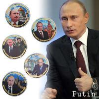 WR Russia President Vladimir Putin GOLD Coin Medallion Set Map Souvenirs X5