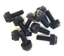 100 x M6 x 16mm Black Nylon Thumbscrews, Slotted, Fasteners