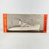 1950s Pacific & Orient Cruise Lines SS Chusan Cruise First Class Deck Plan P&O