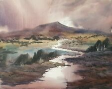 'The River' Original Signed Art 15x11in Watercolour Painting by Steven Cronin