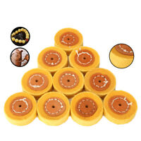 2 Inch Yellow Cloth Polishing Wheel Cotton Buffing Pad for Jewelry Metal 10Pcs