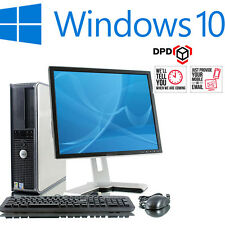 COMPLETO Dell Fast 500gb Desktop Tower PC TFT Computer con Windows 10 & Wifi & 4gb