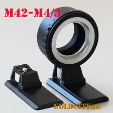 M42 Lens Adapter to Micro Four Thirds M4/3 for EP1 EP2 GF1 GF2 G1 With Tripod