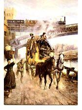 Mail Coach & Railway in Koblenz Artwork-Germany-Bundespostmuseum-Modern Postcard