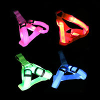 Pet LED Glow Safety Collar Rope Light Dog Puppy Belt Leash Tether Harness M5S9