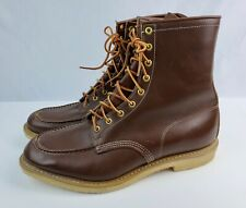 Vintage Outdoorsman Men's Hunting Chore Boots Moc Toe Brown Leather 13 EEE USA
